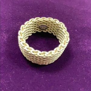 Tiffany & Co. Jewelry - Tiffany's and co silver mesh ring. Beautiful!
